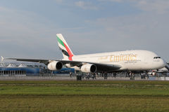 De Luchtbus van emiraten A380 800 Stock Foto