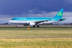 De Luchtbus van lingus van de lucht A320 stock afbeelding