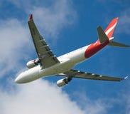 De Luchtbus van Qantas A330 tijdens de vlucht Royalty-vrije Stock Fotografie