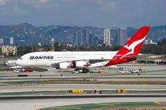 De Luchtbus van Qantas A380 Stock Afbeelding