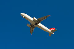 De Luchtbus van Turkish Airlines A320 Stock Fotografie