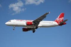 De Luchtbus van Virgin America A320 Stock Foto