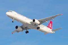 De Luchtbusa321-231 tc-JMH Turkish Airlines close-up Stock Foto