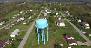 De luchtbuurt van Menings Typische Westelijke Pennsylvania stock videobeelden