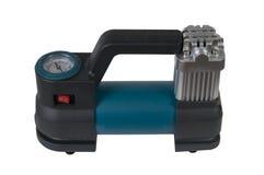 De luchtcompressor van de auto met manometer Stock Afbeelding