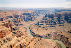 De luchtfoto van Grand Canyon, Arizona, de V.S. Stock Foto's