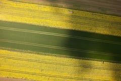De luchtfoto van het de lentelandschap royalty-vrije stock afbeeldingen