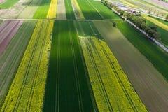 De luchtfoto van het de lentelandschap royalty-vrije stock foto's
