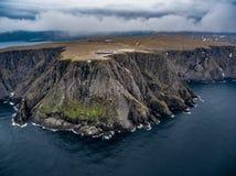 De luchtfotografie van Nordkapp van de het noordenkaap, royalty-vrije stock fotografie