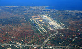 De luchthaven luchtmening van Athene Stock Afbeelding