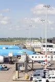 De Luchthaven Schiphol van Amsterdam Royalty-vrije Stock Foto's
