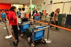 De Luchthaven van Auckland - Nieuw Zeeland Stock Afbeeldingen