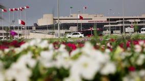 De Luchthaven van Bahrein Internacional - Buitenkant 02 stock videobeelden