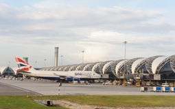 De Luchthaven van Bangkok stock foto