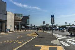 De luchthaven van Bergamo Orio Al Serio Stock Afbeelding
