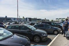 De luchthaven van Bergamo Orio Al Serio Royalty-vrije Stock Fotografie