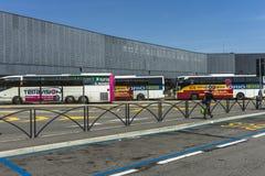 De luchthaven van Bergamo Orio Al Serio Royalty-vrije Stock Foto's