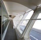 De luchthaven van Bilbao, Spanje stock foto