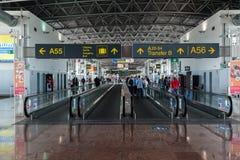 De Luchthaven van Brussel Stock Foto
