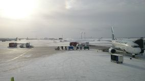 De luchthaven van Calgary Stock Afbeeldingen