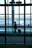 De luchthaven van de vrouw Royalty-vrije Stock Foto's