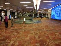 De Luchthaven van Delhi binnen mening royalty-vrije stock afbeeldingen