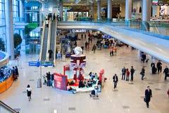 De luchthaven van Domodedovo binnen stock fotografie