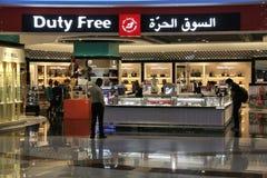 De Luchthaven van Doubai met vrijstelling van rechten Royalty-vrije Stock Foto's
