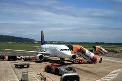 De luchthaven van Durban, Zuid-Afrika