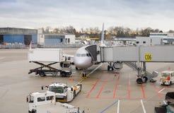 De luchthaven van Dusseldorf, Duitsland Stock Foto