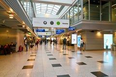 De Luchthaven van Dusseldorf stock afbeelding