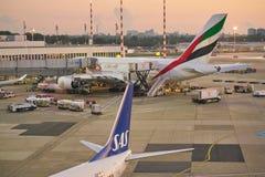 De Luchthaven van Dusseldorf royalty-vrije stock foto's