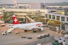 De Luchthaven van Dusseldorf stock afbeeldingen