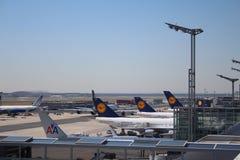 De Luchthaven van Frankfurt stock afbeelding