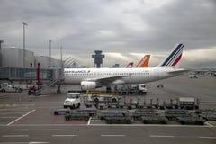 De Luchthaven van Genève Stock Foto's