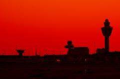 De luchthaven van het silhouet Royalty-vrije Stock Foto