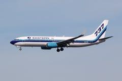 De luchthaven van het vliegtuigmiami van Eastern Air Lines Boeing 737-800 Royalty-vrije Stock Foto's