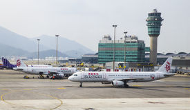 De Luchthaven van Hongkong Stock Fotografie