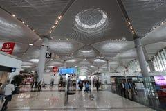 De Luchthaven van Istanboel, de belangrijkste internationale luchthaven die Istanboel, Turkije dienen royalty-vrije stock afbeeldingen