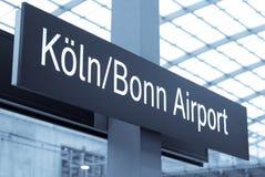 De luchthaven van Keulen Stock Fotografie