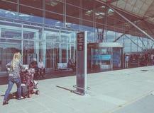 De Luchthaven van Londen Stansted Stock Foto's