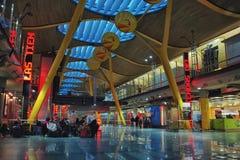 De Luchthaven van Madrid Stock Afbeelding