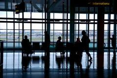 De luchthaven van mensen stock fotografie
