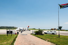 De luchthaven van Nelspruitmpumalanga in Zuid-Afrika Royalty-vrije Stock Fotografie