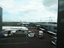 De luchthaven van Newcastle Engeland Royalty-vrije Stock Foto