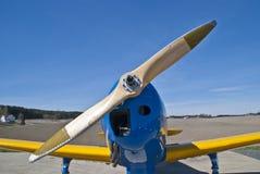 De Luchthaven van Rakkestad, Aastorp (houten propeller) Stock Fotografie