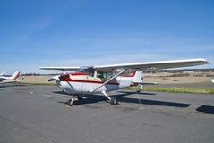 De Luchthaven van Rakkestad, Aastorp (propellervliegtuig) Royalty-vrije Stock Foto's