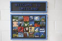 De luchthaven van Shetland Stock Fotografie