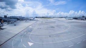 De Luchthaven van Singapore stock footage