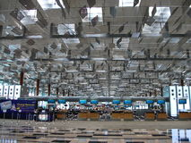 De Luchthaven van Singapore Changi Stock Foto
